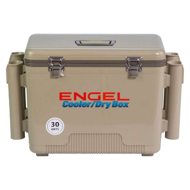 4 x UC30T-RH Engel Coolers 30-Quart Insulated Cooler Drybox with 4 Rod Holders (4 Pack) 6