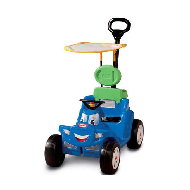 622069MP Little Tikes Deluxe 2 in 1 Cozy Roadster Toddler Kids Push Car Ride On Toy, Blue 1