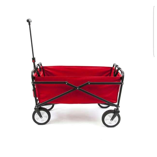 SUW-200-RED-U-A Seina Compact Folding Outdoor Utility Cart (Open Box) (2 Pack) 4