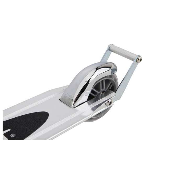 13003A2-CL + 13003A2-BL Razor A2 Kids Folding Aluminum 2 pack Kick Scooter w/ Wheelie Bar, Blue & Clear 3
