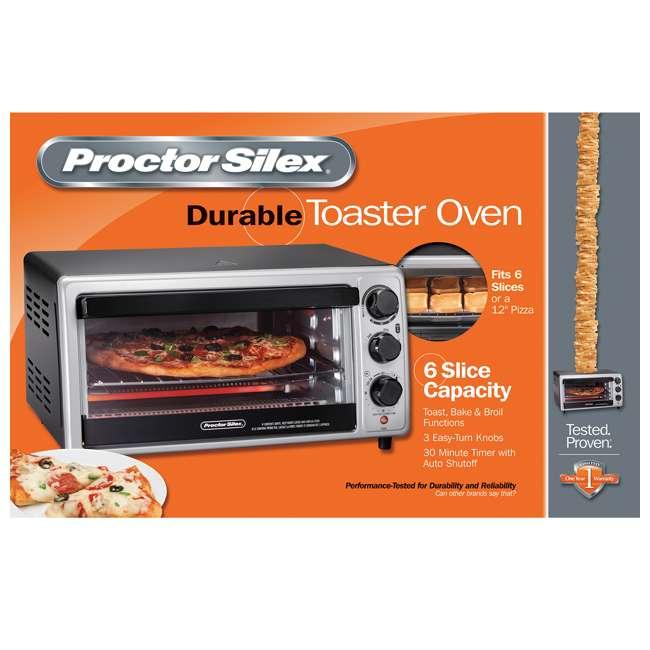 31124 Hamilton Beach Proctor Silex 6 Slice Capacity Countertop Toaster Oven, Silver 6