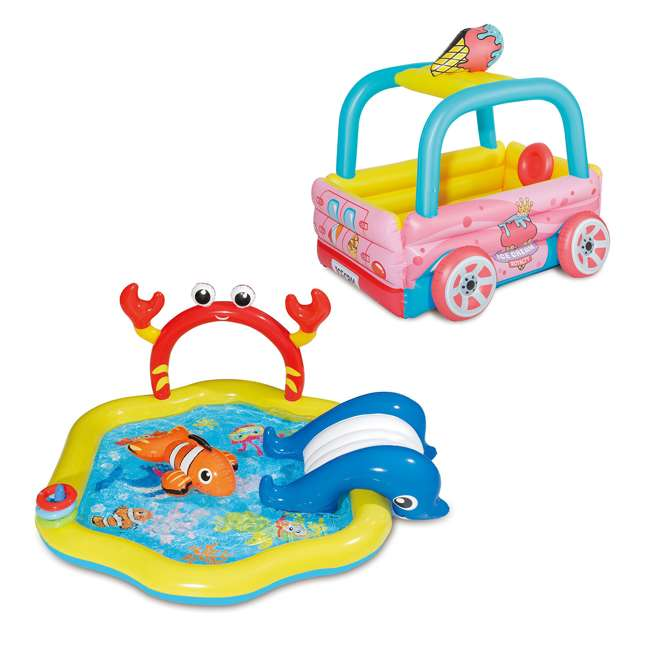 KA0040000167 + KE0233000167 Summer Waves Under the Sea and Ice Cream Truck Kiddie Pools