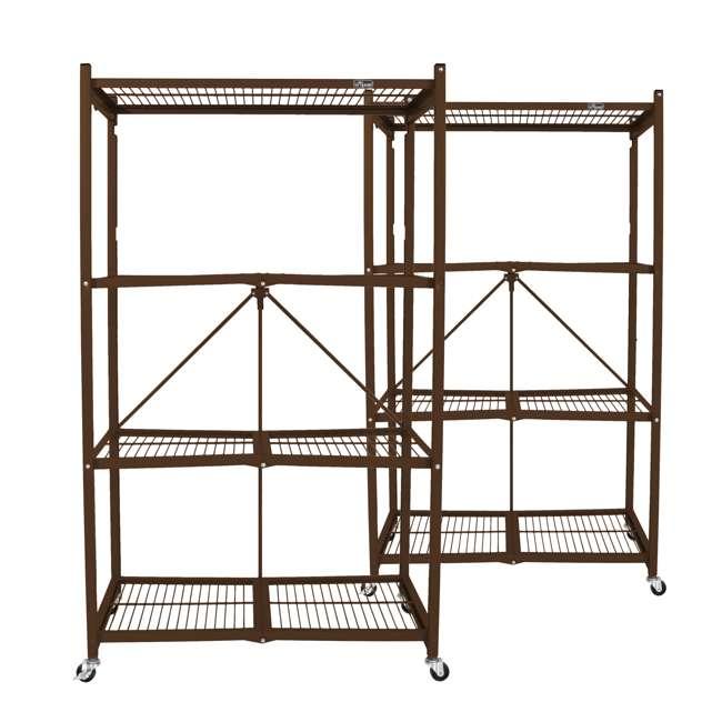 R5-VBW-2 Origami 4-Shelf Foldable Storage Racks, Vintage Bronze (Pair)