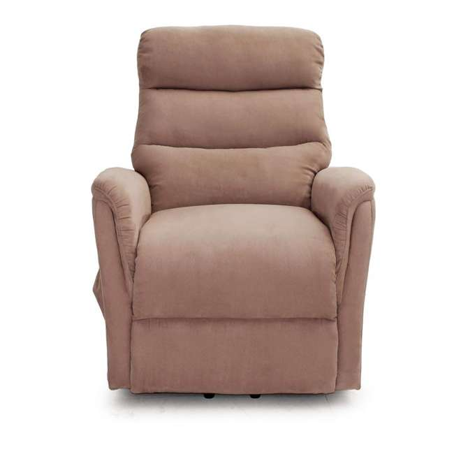 L6115F51-Mocha Lifesmart Ultra Comfort Fitness Lift Chair with Heat, Massage and Remote 4
