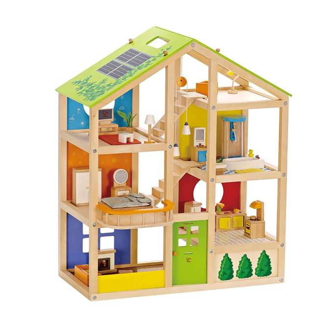 HAP-E3401 Hape All Season House Wooden Dollhouse with Furniture (2 Pack) 1