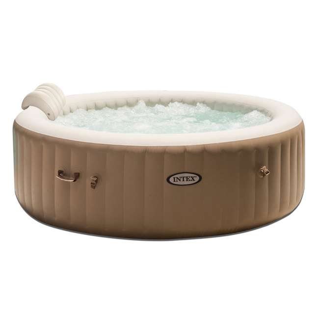 28407E + 28501E Intex Pure Spa Inflatable 6-Person Hot Tub with Headrest