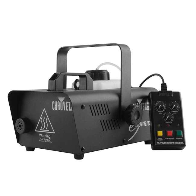 H1200 + 2 x HDF Chauvet DJ Hurricane 1200 1.0L Fog Machine w/ Wired Remote & Fog Juice (2 Pack) 1