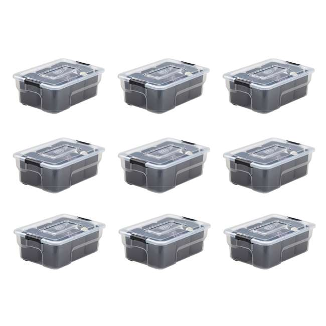 9 x FBA32236 Ezy Storage Sort It 5 Liter Stacking Container Box with Removable Cups (9 Pack)