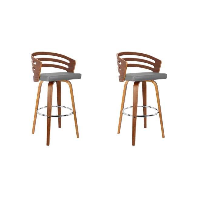 LCJYBAGRWA26 Armen Living Jayden 26 Inch Mid Century Swivel Barstool Chair, Gray (2 Pack)