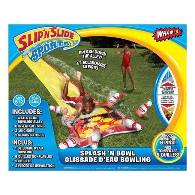 WMO-64703 Wham-O 64703 Splash 'N Bowl Outdoor Slip 'N Slide Sports with 6 Inflatable Pins 3