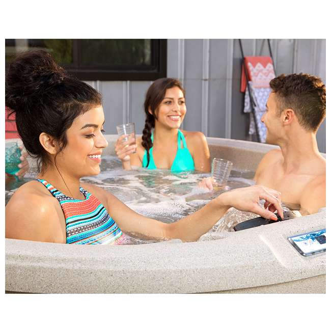 LS200DX LifeSmart Key Largo DLX 4 Person Oval 20 Jet Plug and Play Hot Tub Spa, Sand 5