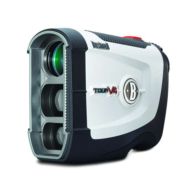 BGOLF-201660-OB Bushnell Golf Tour V4 Laser Rangefinder with JOLT Technology, White (Open Box)