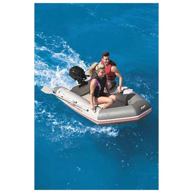 65046E-BW Bestway Hydro Force 91 Inch Caspian Pro Inflatable Boat Set with Oars and Pump 1
