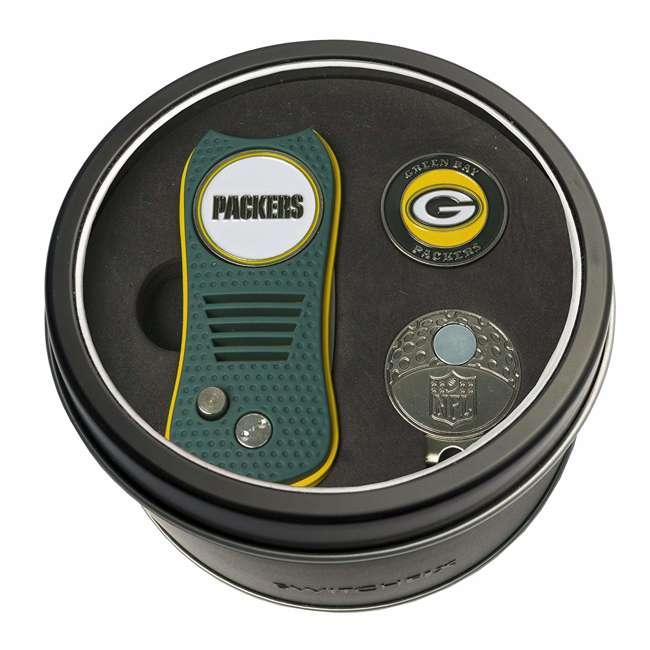 31057 Team Golf 31057 Green Bay Packers Switchblade Cap Clip Ball Marker Golf Gift Set