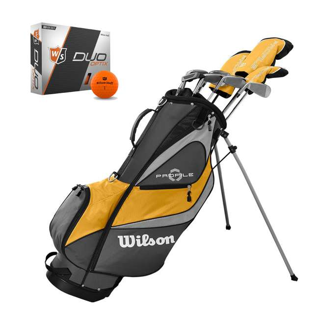 WGGC4370L + WGWP40800 Wilson Profile XD Men's RH Golf Club Complete Set and Balls