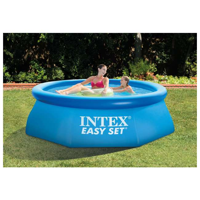 Intex 8 39 X 30 Easy Set Inflatable Above Ground Swimming Pool 28110e