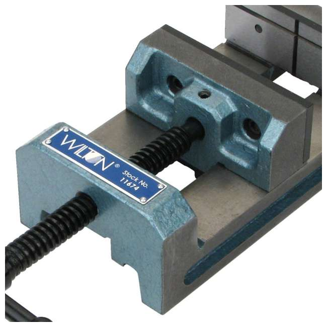 JPW-11674-U-A Wilton 4 In V Groove Jaw Steel Industrial Workbench Drill Press Vise (Open Box) 3