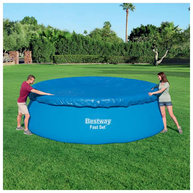 58035E-BW-U-A Bestway Flowclear Fast Set Pool Debris Cover for 15 Foot Round Pools (Open Box) 4