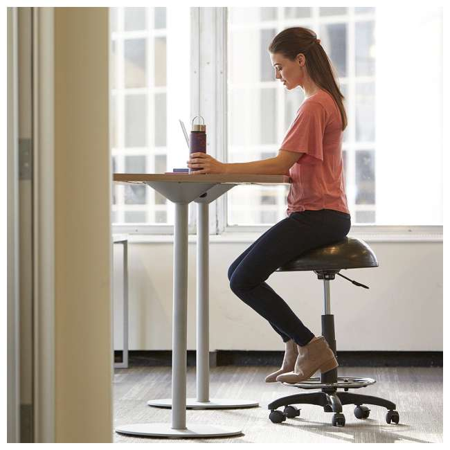 05-62674-U-A Gaiam High Rise Yoga Fitness Balance Ball Office Desk Stool, Black (Open Box) 3