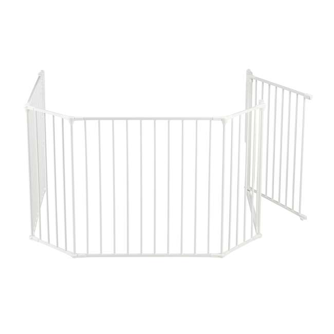 "BBD-56814-10400 BabyDan Flex Hearth 35.4-109.5"" XL Size Safety Baby Gate for Fireplace, White 1"