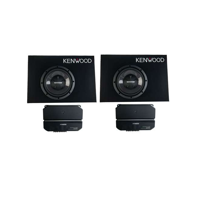 P-W101B Kenwood 10-Inch Loaded Vented Subwoofer & Amp Package (2 Pack)