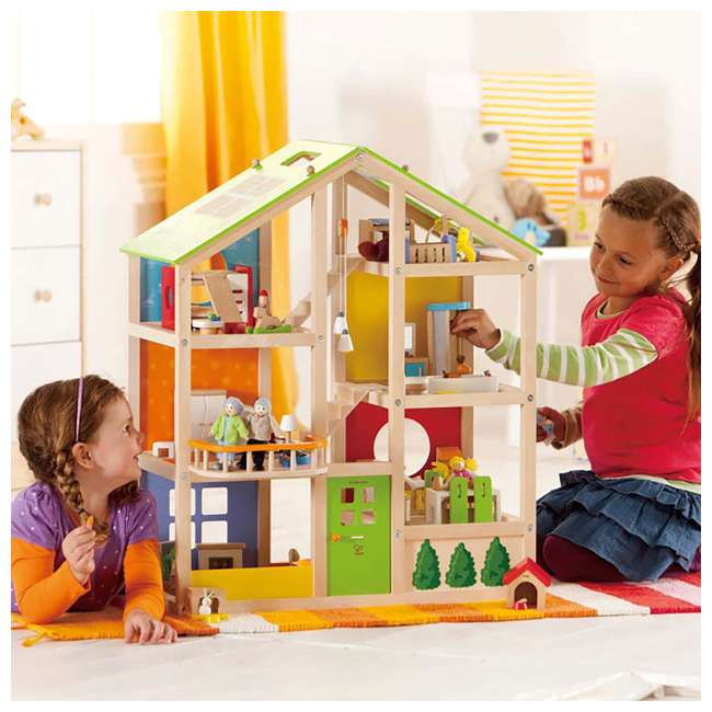 HAP-E3401 Hape All Season House Wooden Dollhouse with Furniture (2 Pack) 4