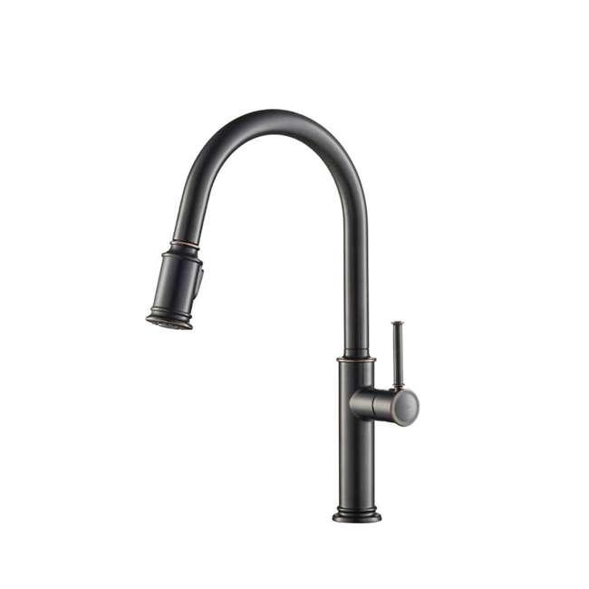 4 x KPF-1680ORB Kraus Sellette Pull-Down Lever Kitchen Faucet, Bronze (4 Pack) 1