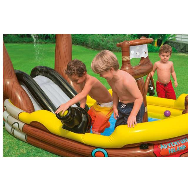 Intex Pirate Adventure Ship Play Center Kids Inflatable Pool With Air Pump 57133ep 66619e