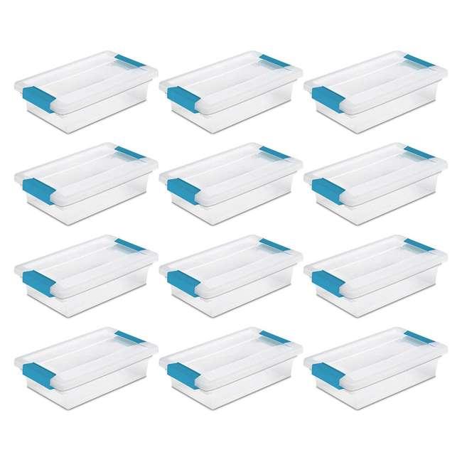 36 x 19698606-U-A Sterilite Clip Plastic Storage Box w/ Blue Aquarium Latches (Open Box) (36 Pack) 2