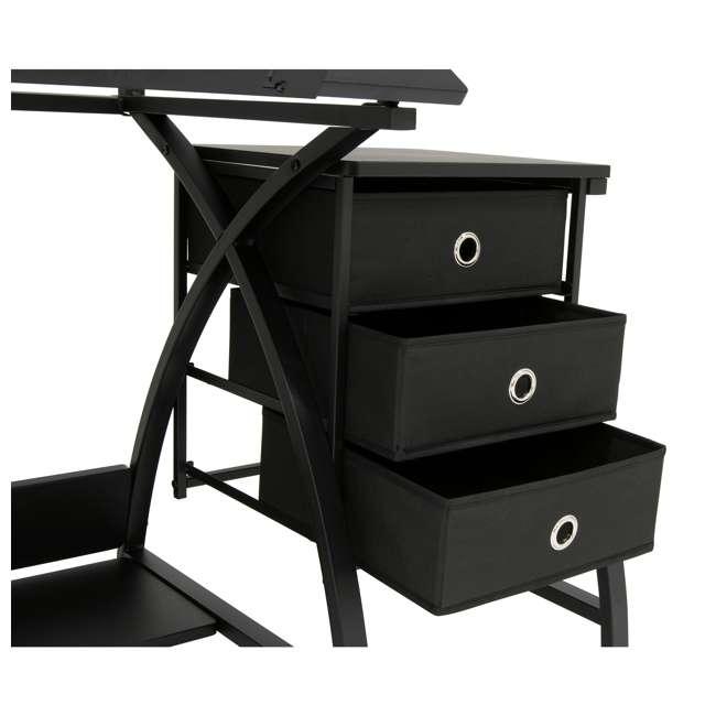 STDN-38015 Studio Designs Venus 2-Piece Craft Adjustable Tabletop w/ Storage & Stool, Black 9