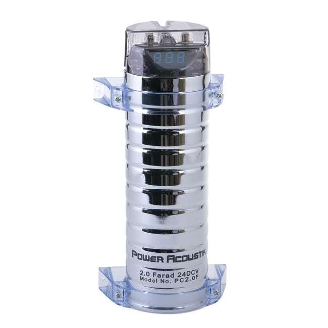 PC2.0F Power Acoustik 2 Farad Digital Capacitor | PC2.0F