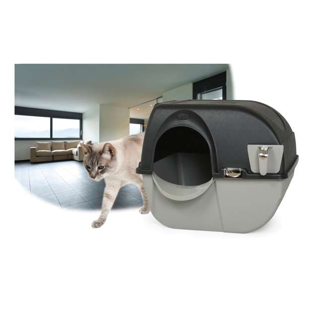EL-RA20-1 Omega Paw Roll N Clean Self Cleaning Litter Box, Large  2
