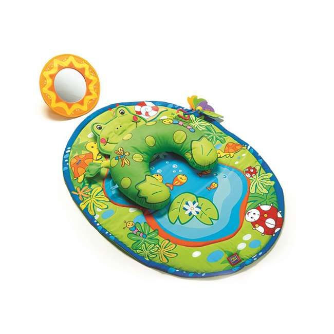 00941003 Tiny Love Frog Tummy Time Fun Play Mat and Pillow with Stand Alone Mirror, Green
