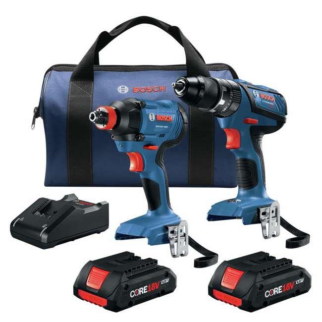 "GXL18V-239B25-RT-RB Bosch 18V 1/2"" Hammer Drill Driver & Impact Driver Kit (Certified Refurbished)"