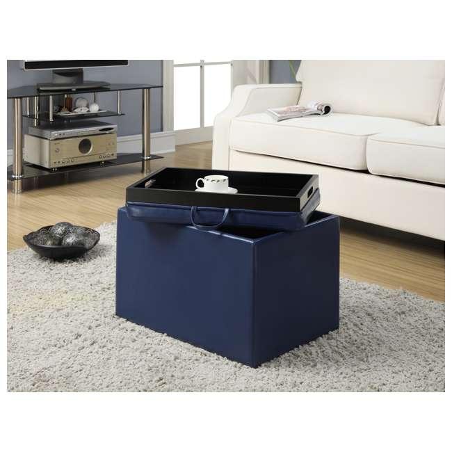 R8-117 Convenience Concepts Designs4Comfort Accent Storage Ottoman - Blue (Open Box)