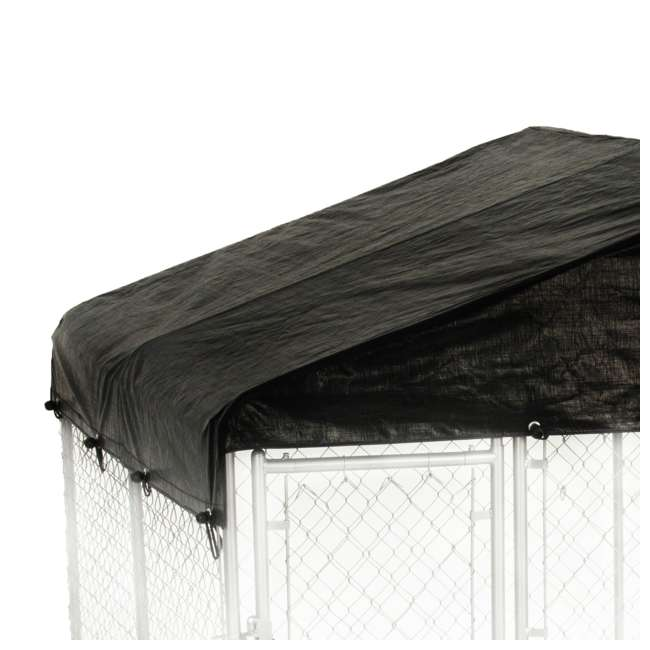 CL-61528EZ + CL-00303 Lucky Dog 10 x 10' Outdoor Dog Kennel & Waterproof Roof Cover 8
