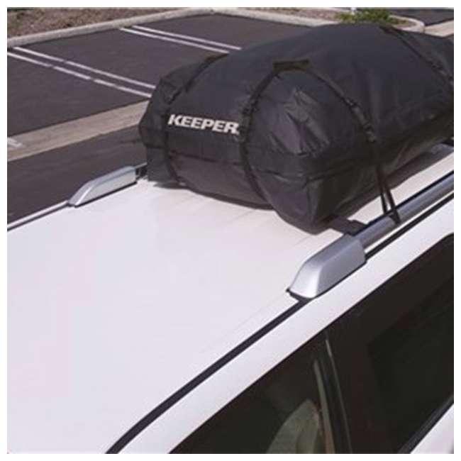 07204-U-A Keeper Premium Roof Top Cargo Bag & Carrier, 15 Cubic Feet (Open Box) (2 Pack) 1