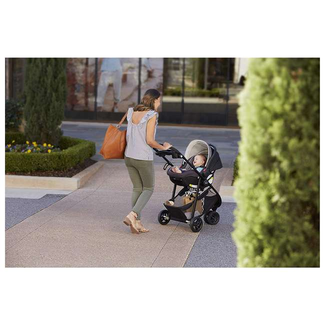 2065964 Graco 2065964 SnugRider 3 Elite 3 Wheel Portable Infant Car Seat Carrier, Black 3