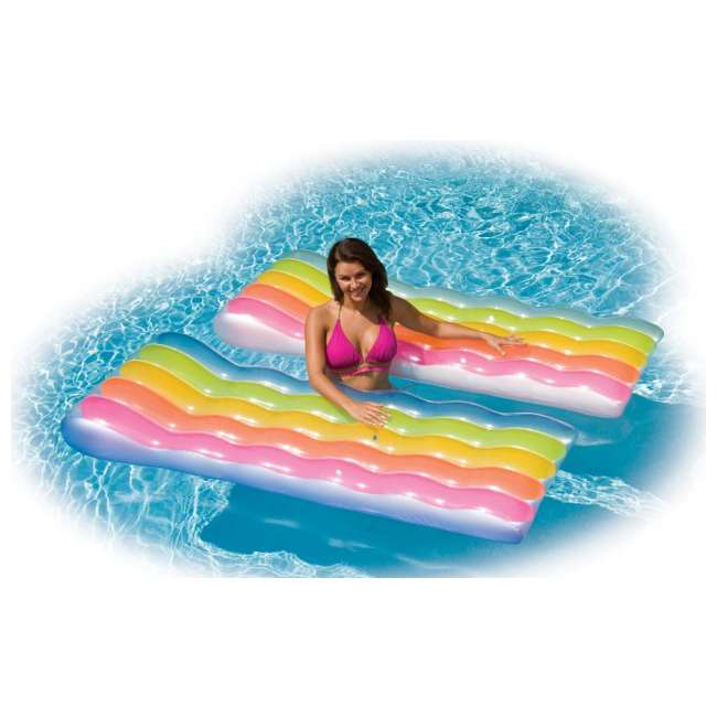 6 x 58876EP Intex Color Splash Inflatable Swimming Pool Lounger - (Set of 6) 2