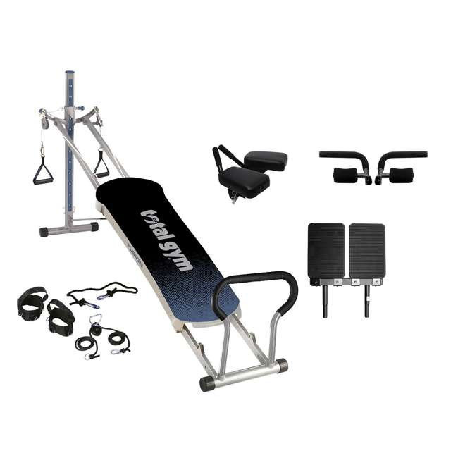 RFUSIONG Total Gym Fitness Fusion Full Body Workout Home Exercise Machine, Grey (2 Pack)