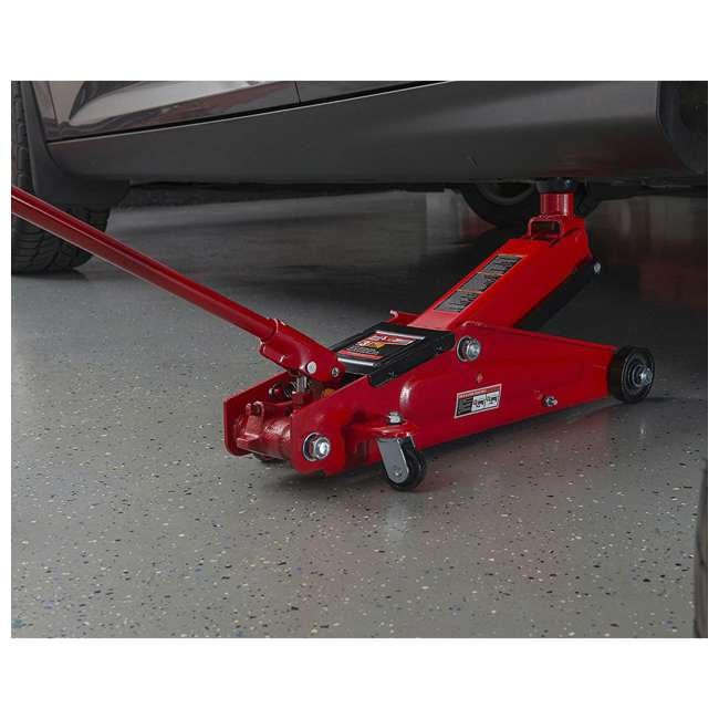 TOR-T83006 + TOR-T43002A Torin 3 Ton Trolley Service Jack Torin & 3 Ton Double Locking Jack Stands, Pair 2