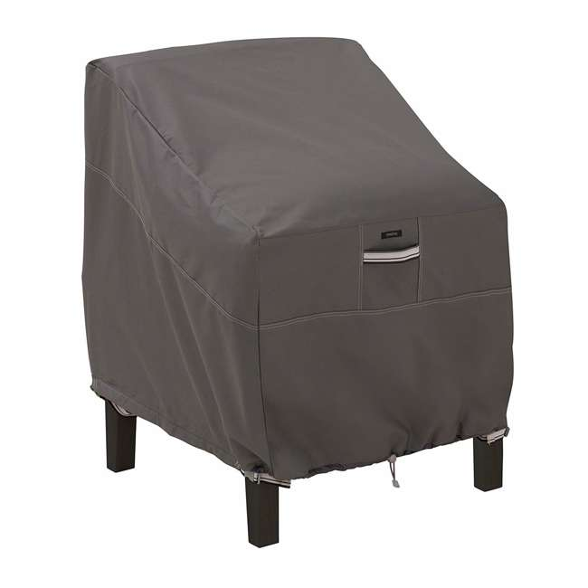 55-160-015101-EC Classic Accessories Ravenna Lounge Chair Cover, Large, Dark Taupe