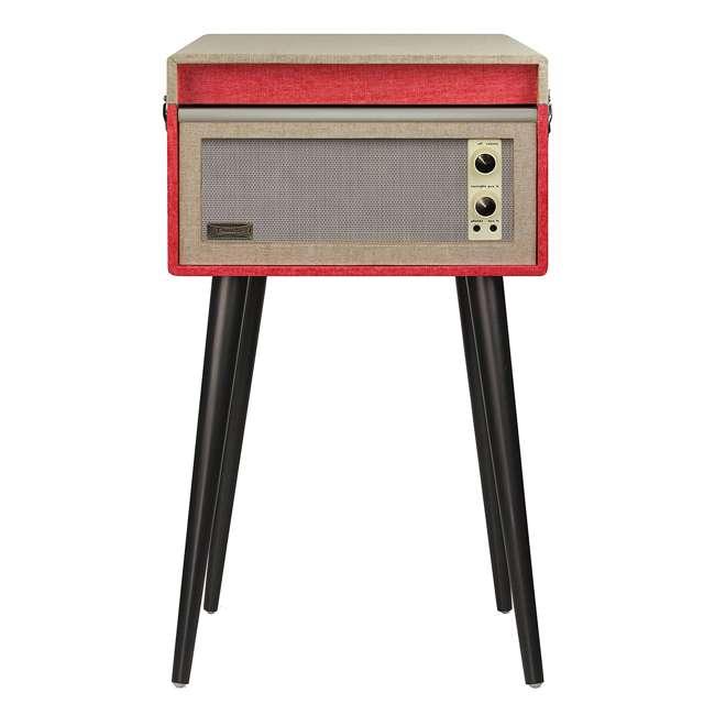 CR6233A-RE Crosley Dansette Bermuda Freestanding Portable Turntable, Red 2