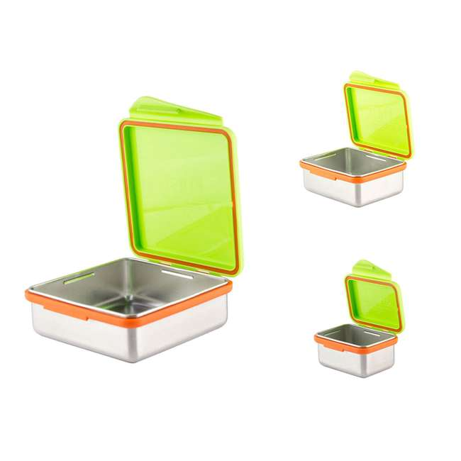 894148002817 + 894148002930 + 894148002978 Kid Basix 23oz Stainless Steel Lunch Box + 13oz and 7oz Reusable Containers
