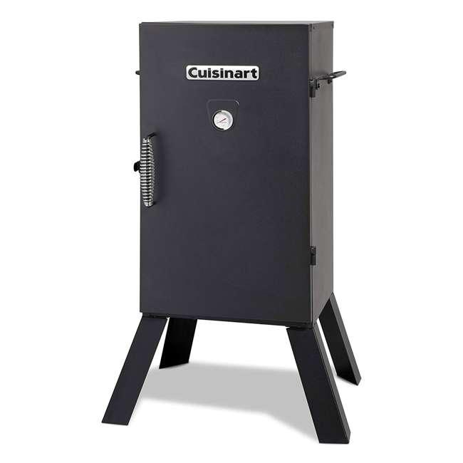 COS-330 Cuisinart 30 Inch 1500 Watt Portable Electric Smoker Grill w/ 2 Handles, Black