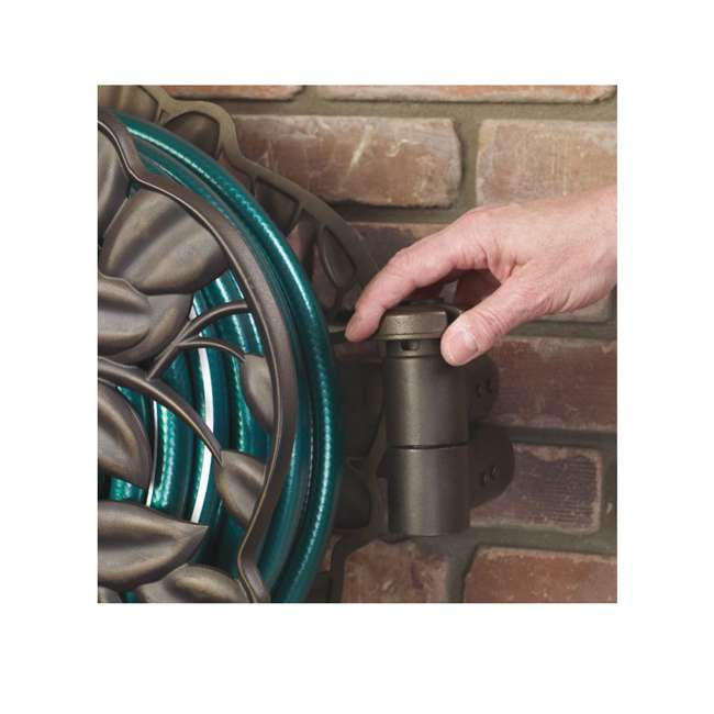 AMES-2397200 Ames Neverleak Decorative Leaf Wall Mount Hose Reel With 100-Foot Hose Capacity 4
