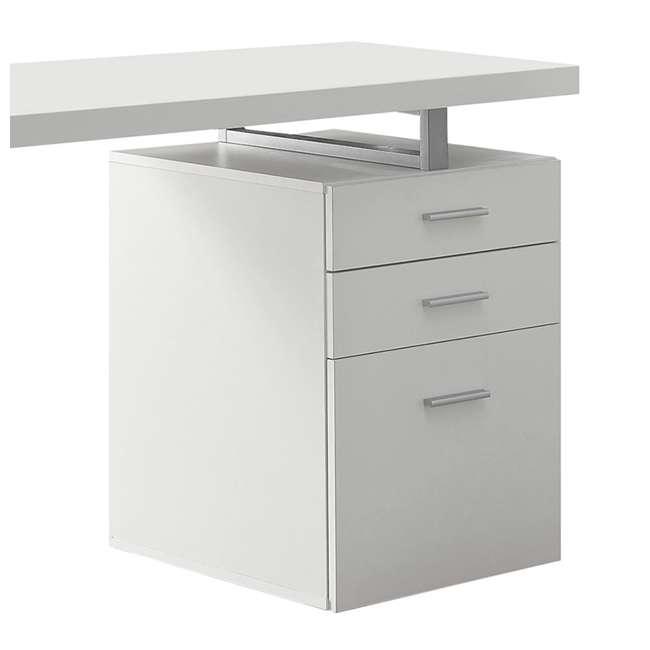 "VM-7027-U-C Monarch Specialties 48"" Contemporary Reversible Set Up Computer Desk (For Parts) 4"