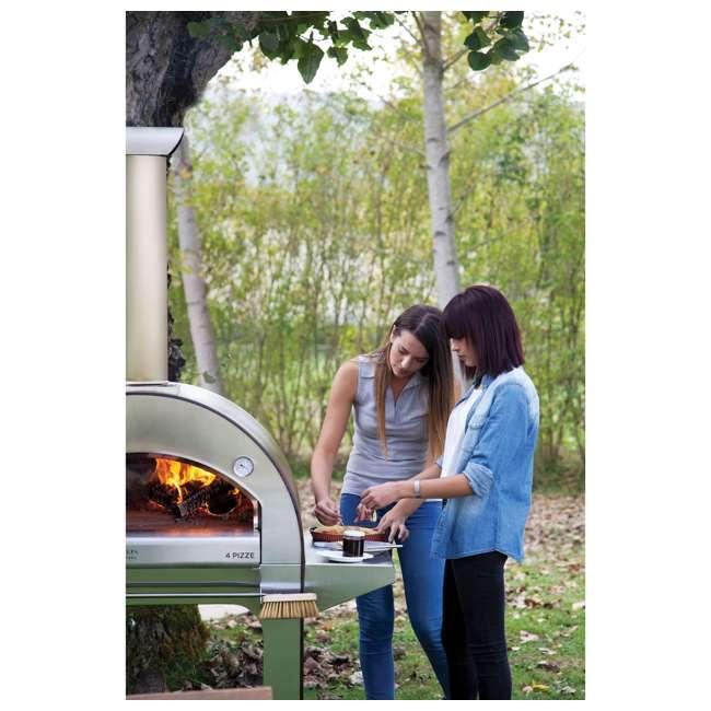 FX4PIZ-LRAM Alfa FX4PIZ-LRAM 4 Pizze Outdoor Stainless Steel Wood Fired Pizza Oven, Red  3