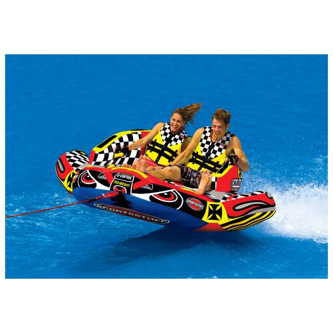 53-1780-OB Sportsstuff Chariot Warbird 2 Double Rider Towable Tube | 53-1780 1