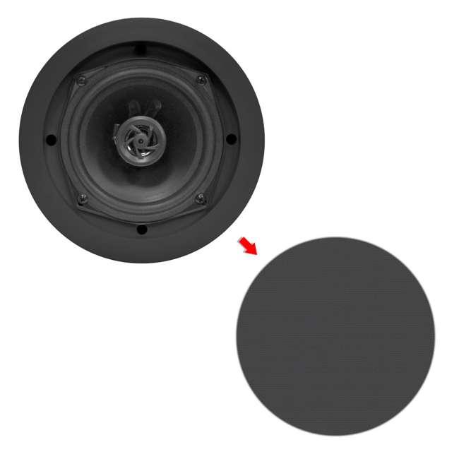 8) Pyle PDIC51RDBK 5.25 Inch 150W Black In-Ceiling Flush